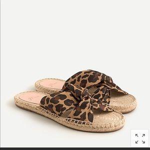 J. Crew Twisted Leopard Print Espadrille Sandals